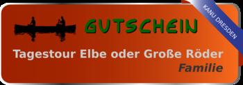 Gutschein Tagestour Elbe für Familien